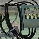 情報分電盤にブースター電源を設置
